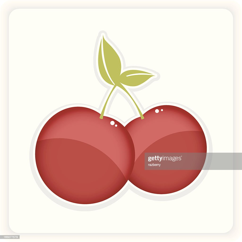 hight resolution of yummy cherry clipart stock vector