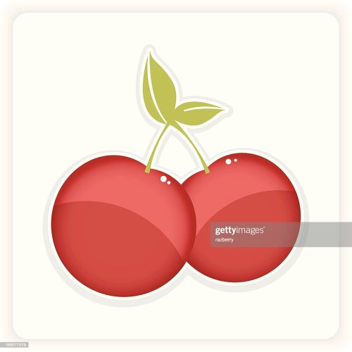 small resolution of yummy cherry clipart stock vector