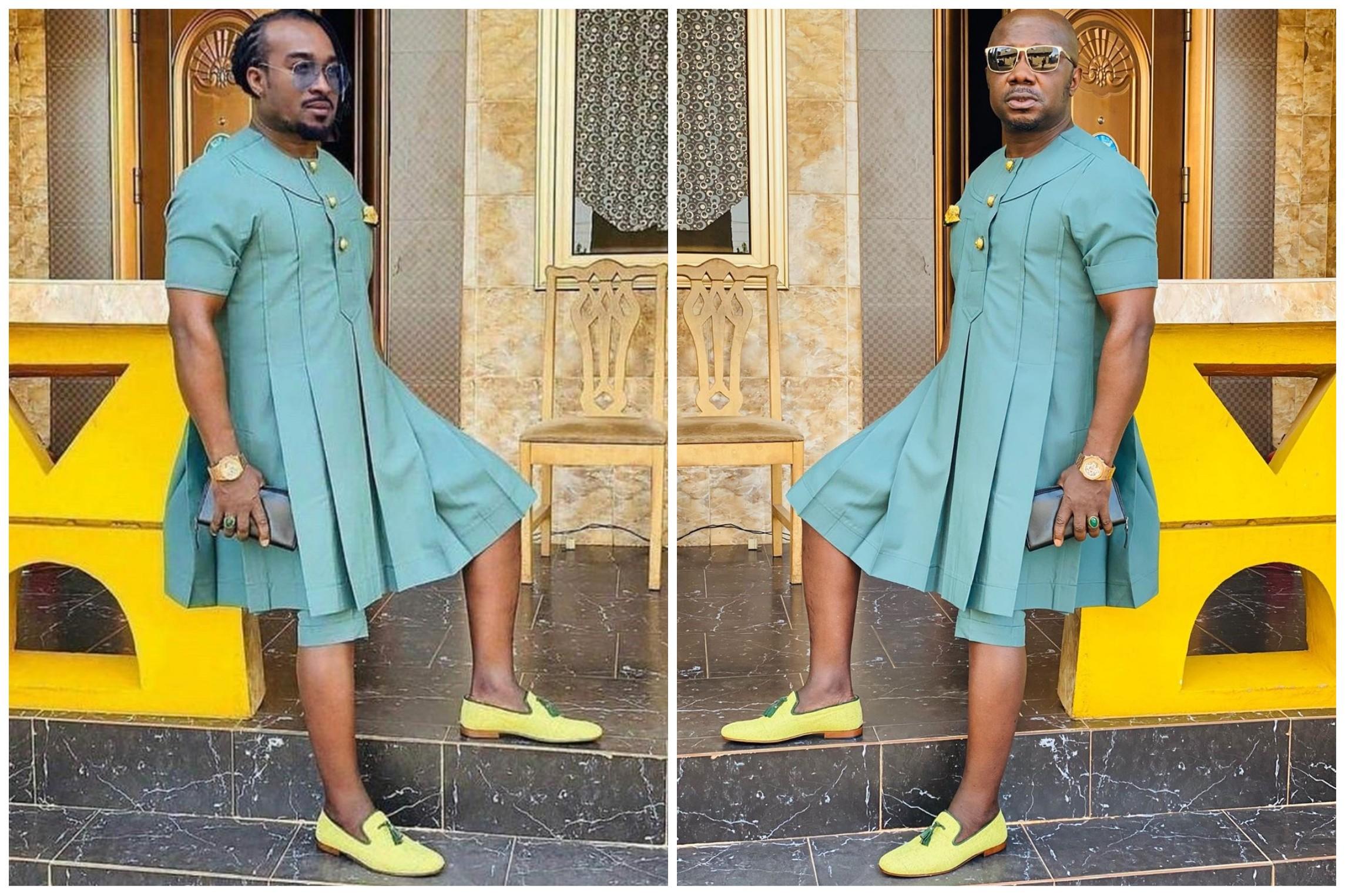 Nigerian Actor, Uti Nwachukwu Hails Osebor's Fashion Sense, Calls Him His Role Model thumbnail