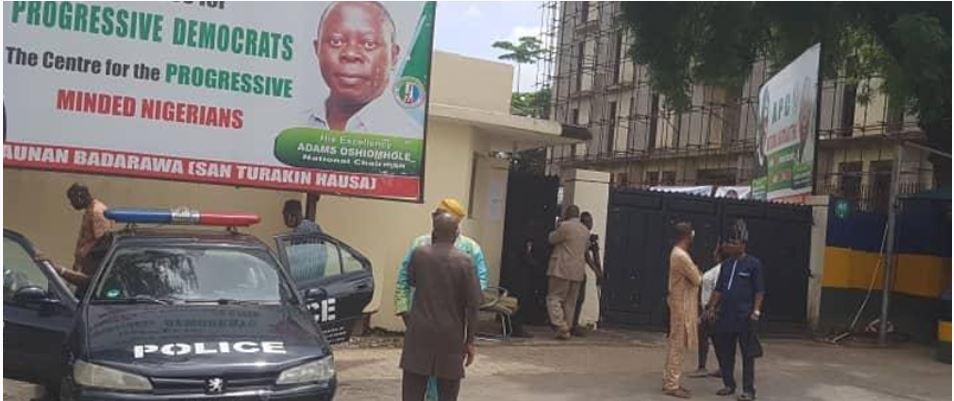 BREAKING: Police seal APC National Secretariat