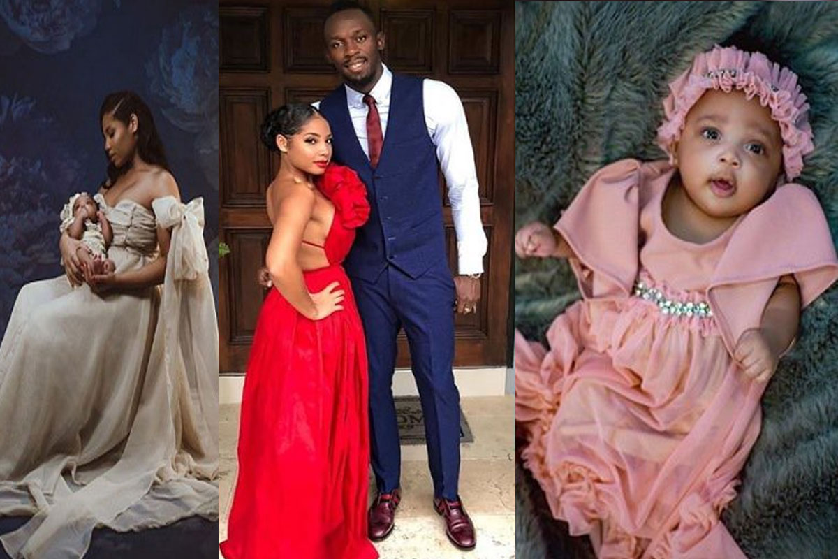 Usain Bolt Shows Off His Lovely Daughter, Olympia As His wife, Kasi Marks 21st Birthday (PHOTOS) - GH Gossip