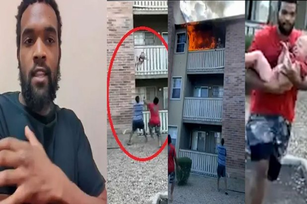 VIDEO: Man Dives To Catch 3-year-old Boy Dropped From A Burning ...