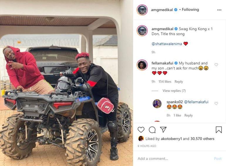 SM Fans Blasts Fella Makafui For Referring to Shatta Wale As His Son [SCREENSHOT] 1