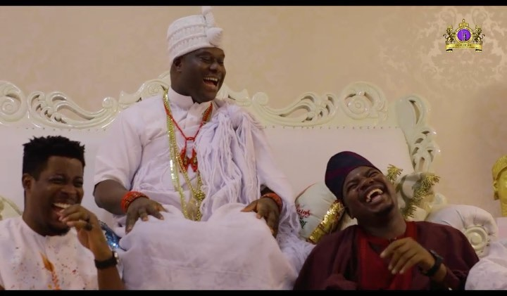 Mr. Macaroni Goes Wild After Meeting Ooni Of Ife (Video)