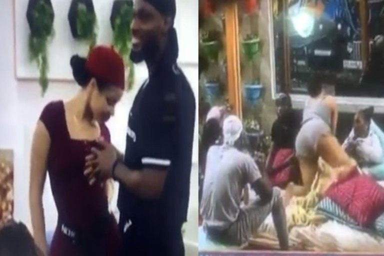 #BBNAIJA: Prince SNUBS Nengi As She Tries To Tempt Him With Her HUGE Bum (WATCH)