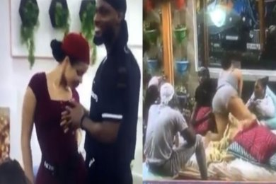 BBNaija 2020: Prince resists Nengi's temptation as she tries to tempt him with her HUGE Bum (Video)