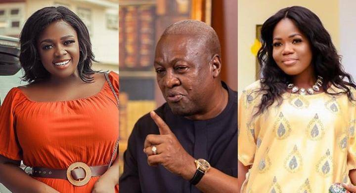 John Mahama's Name Pops Up In Tracey Boakye And Mzbel's Bedroom Fight And  This Could Harm The NDC