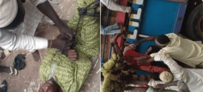 Nigeria Man Tied Up Like A GOAT & Sent Back Home After Leaving His ...