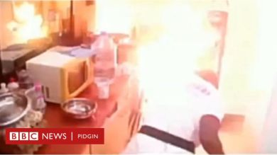 Big Brother Cameroon Kitchen Catches Fire, Housemates Scamper For Live (Video)