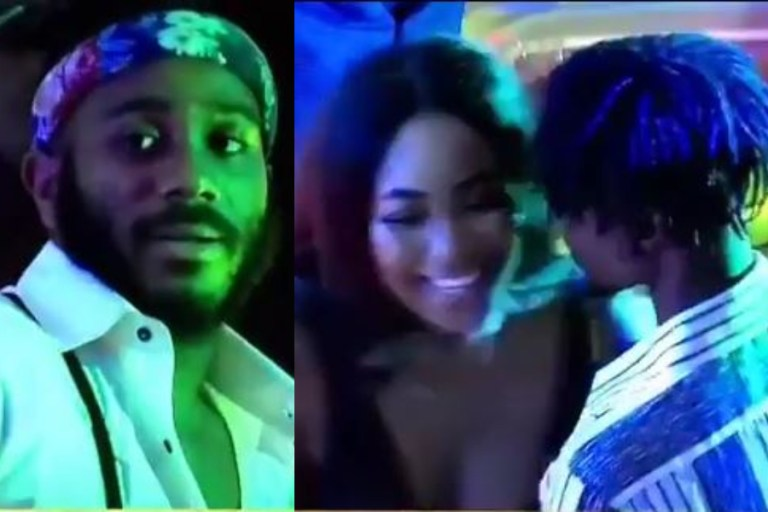 BBNaija 2020: Kiddwaya furious after watching Laycon have an erotic dance with Erica (Video)