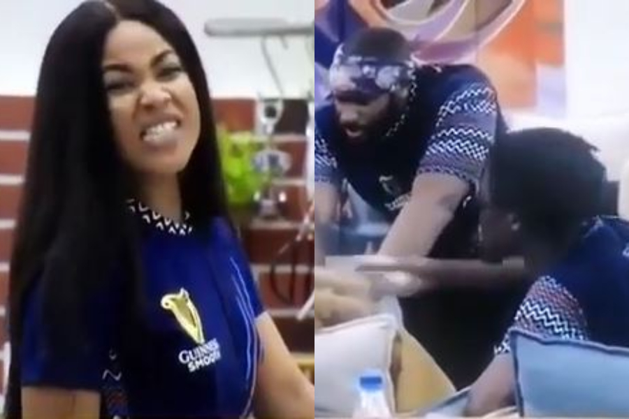 BBNaija: Watch The Moment Erica Lost Her Cool And Slammed Laycon