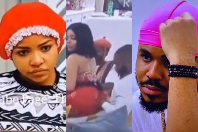"BBNaija 2020: ""Kidd Is Just My Playing Partner"" – Nengi Tells Ozo After Sitting On Kiddwaya's Lap"