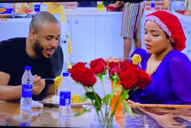 BBNaija 2020: Ozo And Nengi Made Eating Together Look Romantic (Photos)