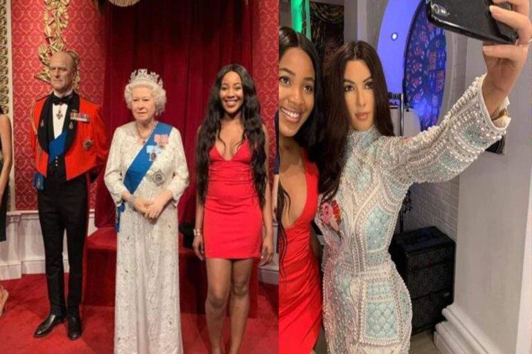 BNaija: Photos Of Erica Posing With 'The Queen Of England' And 'Kim Kardashian' Causes Stir Online