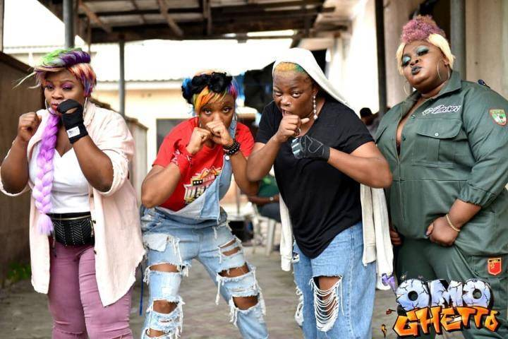"Omo Ghetto: The Saga"" Coming Out Soon Featuring Funke Akindele And Many Top  Actors, SEE Some Behind The Scenes Photos"