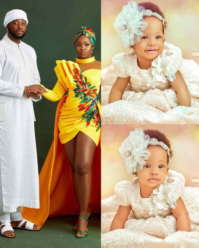 Ex-BBNaija Housemates, Teddy A And BamBam Finally Reveal The Face of Their  Beautiful Daughter