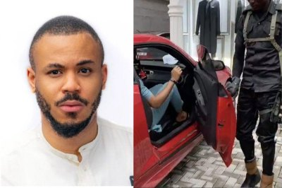 Nigerians React As Police Officer Opens Car Door For Ozo