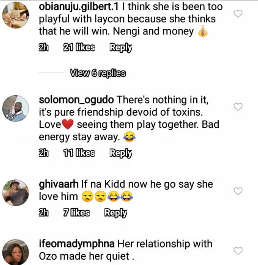 BBNaija 2020: Nengi was caught doing this with Laycon when no one was watching, BBNaija 2020: Nengi was caught doing this with Laycon when no one was watching, Latest Nigeria News, Daily Devotionals & Celebrity Gossips - Chidispalace