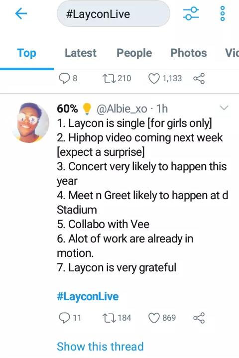 BBNaija 2020: See 5 things Laycon said he will do during a LIVE video, BBNaija 2020: See 5 things Laycon said he will do during a LIVE video, Latest Nigeria News, Daily Devotionals & Celebrity Gossips - Chidispalace