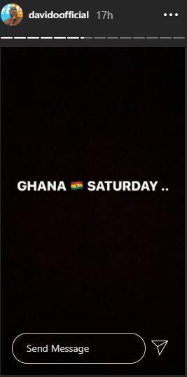 Davido Set To Visit Ghana On Saturday 2