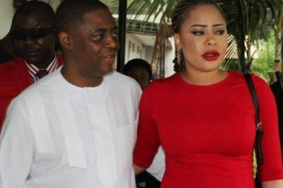"""""""Stop Abusing Me"""" – Precious Chikwendu Begs For Mercy As Ex-Nigerian Minister, Femi Fani-Kayode Abuses Her (Video)"""