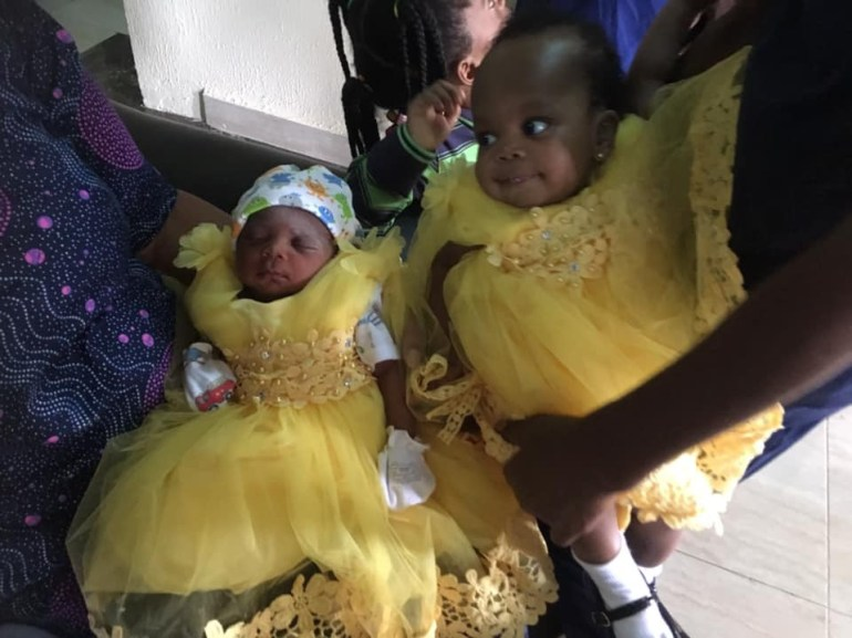 God Is Awesome – Nigerian Woman Welcomes A Baby Girl Just Five Months After Delivering Set of Twins