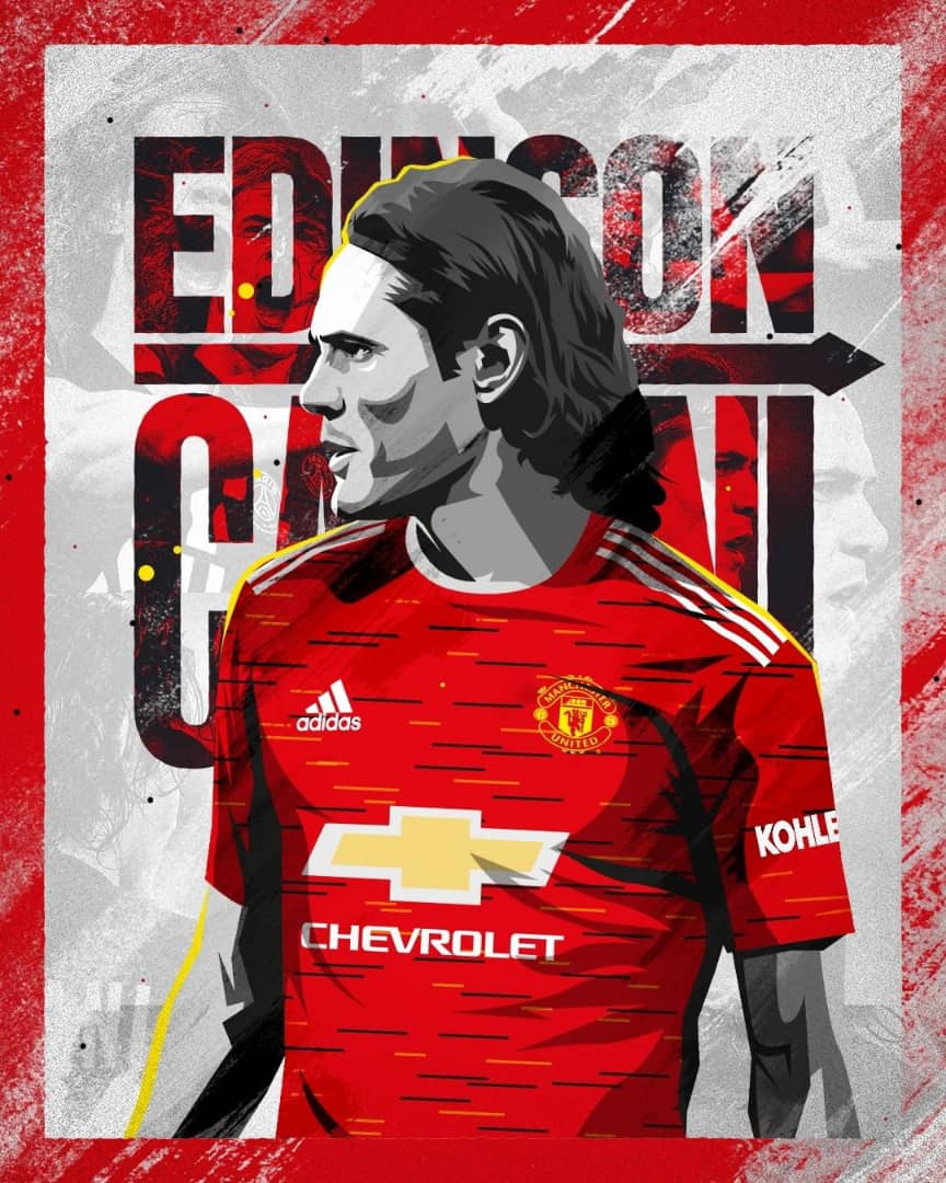 edinson cavani signs for manchester united edinson cavani signs for manchester united