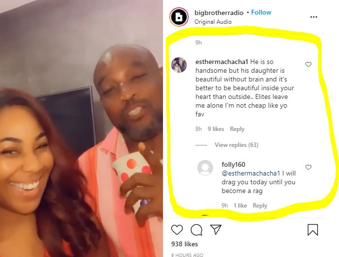 """He Is So Handsome But His Daughter Is Beautiful Without Brain"" - IG User Reacts To Erica And Her Dad's Video"