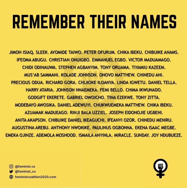 Protestants That Lost Their Lives During the Protest