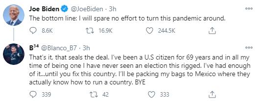 USA: après 30 ans de mariage, il divorce de sa femme à cause de Joe Biden