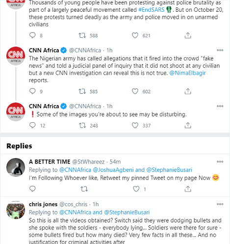 Nigerians React As Cnn Proves Nigerian Army Killed Protesters At Lekki Toll Gate &Ndash; Watch Video