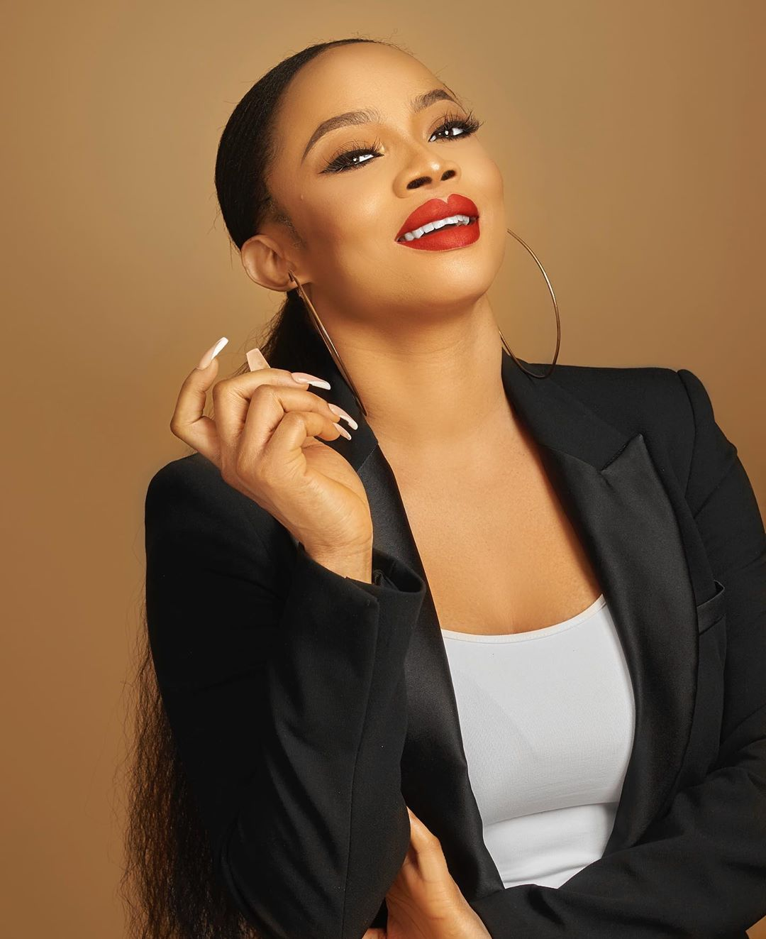 Toke Makinwa Shows Off Receipt of 'Bone Straight' Wigs Worth N1.2m