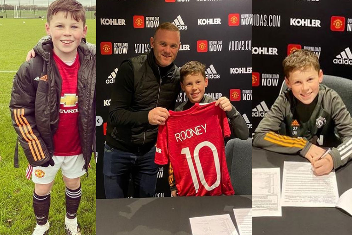Rooney's Son Signs for Manchester United