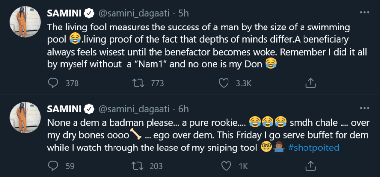 """I Start Buying Houses Before I Met NAM1 ,You Start Buying Credit As MTN Sign You""- Shatta Wale Replies Samini"