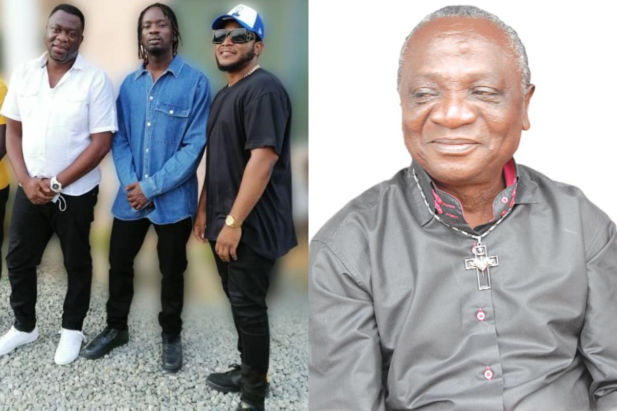 Mr Eazi  And Team Visits Bedridden Legendary Musician, Nana Amapadu