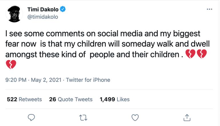 Timi Dakolo Twitter handle