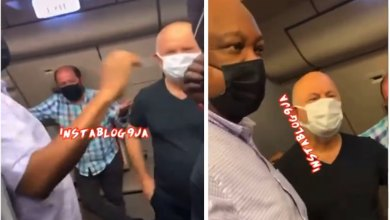 Turkish man thrown out of airplane for allegedly slapping a Nigerian (Video)