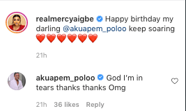 Mercy Aigbe Makes Akuapem Poloo Teary As She Celebrates Her Birthday 1