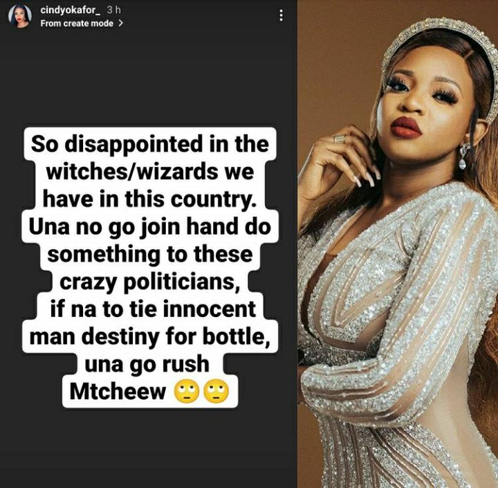 Cindy Okafor Expresses Disappointment In The Witches And Wizards In Nigeria