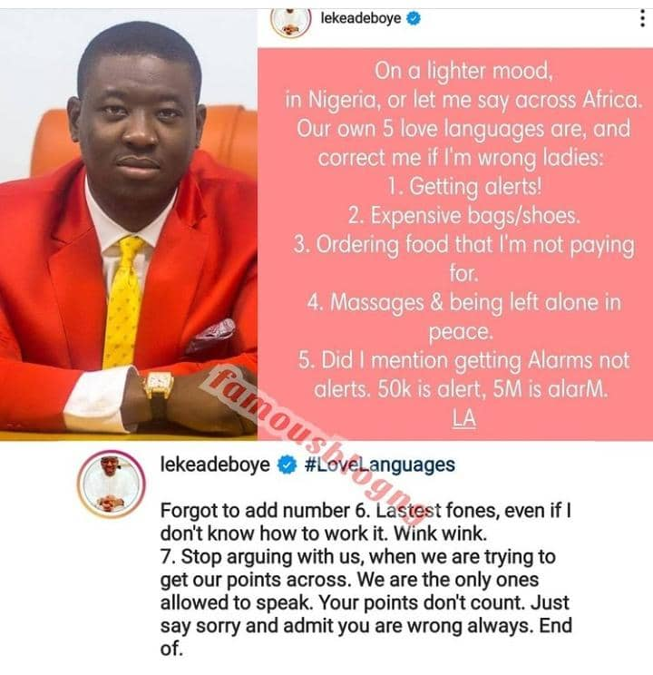 Pastor Leke Adeboye Lists Some Of The Love Language Of Nigerian Women