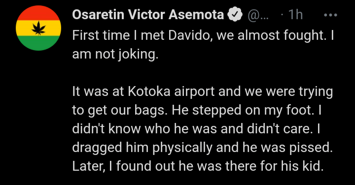 """""""First Time I Met Davido, We Almost Fought""""– IT Expert, Victor Asemota"""