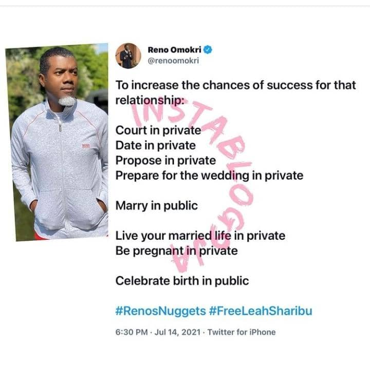 Reno Omokri Reveals How To Have A Successful Relationship