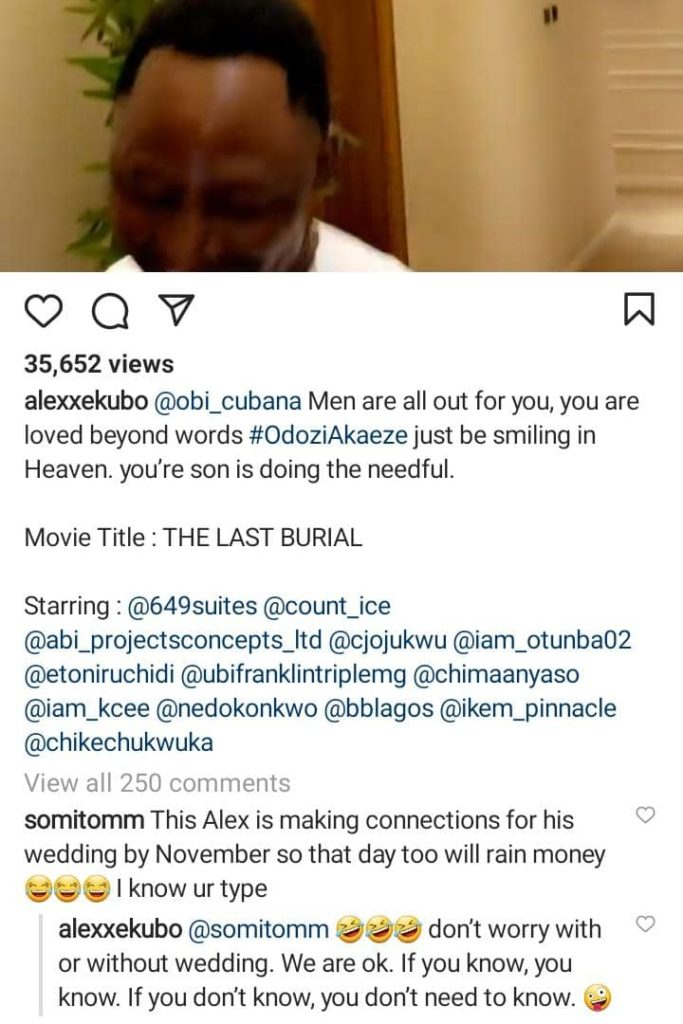 Alex Ekubo Replies A Fan Who Said He's In Oba To Make Connections For His Wedding