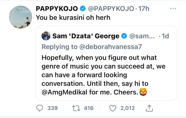 Pappy Kojo Backs Sister Derby, Jabs Sam George On LGBTQ Issues