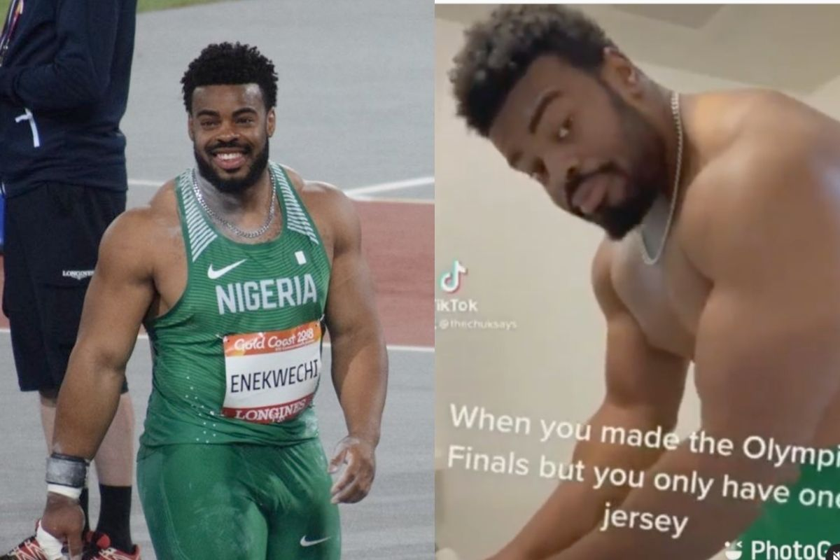Tokyo Olympics: Nigerian Shotput Finalist, Chuckwuebuka Enekwechi, Captures  Himself Washing His Only Jersey Ahead Of Finale Competition (VIDEO)