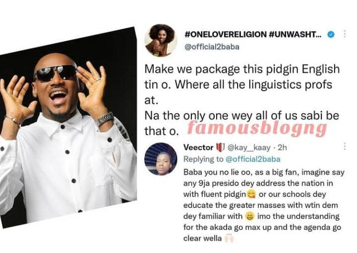 Let's Package Pidgin English – 2Face Idibia Suggest As It The Only Language They All Understand