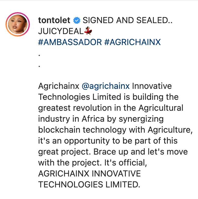 Tonto Dikeh Still Winning As She Bags Juicy Ambassadorial Deal