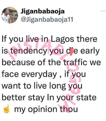 There's A Tendency You Will Die Early If You Live In Lagos'- Actor Jigan Babaoja