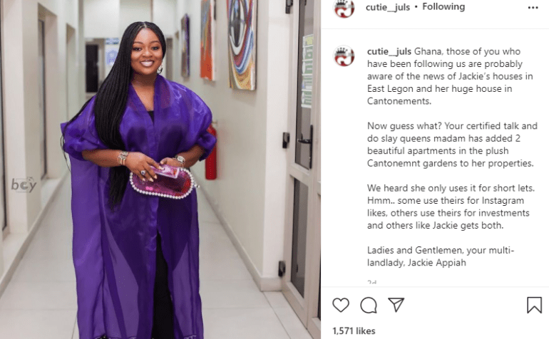 Jackie Appiah Allegedly Acquires 2 Mansions In Cantonments In Addition To Her 7 Houses