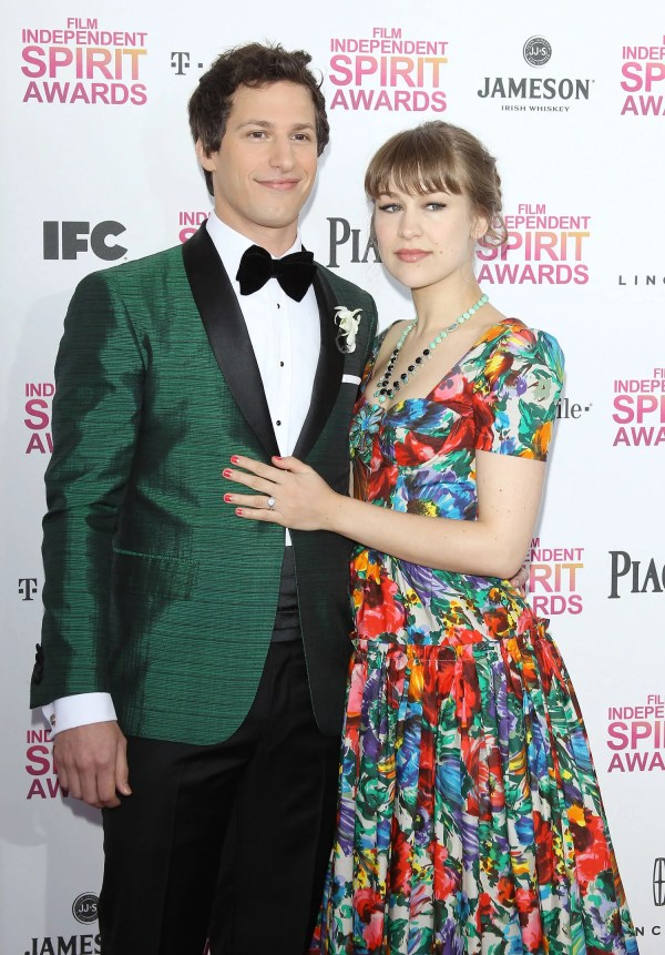 Details Andy Samberg And Joanna Wedding Bride Wore Celebs